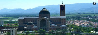 Vista aérea Basílica Nova de Nossa Senhora de Aparecida