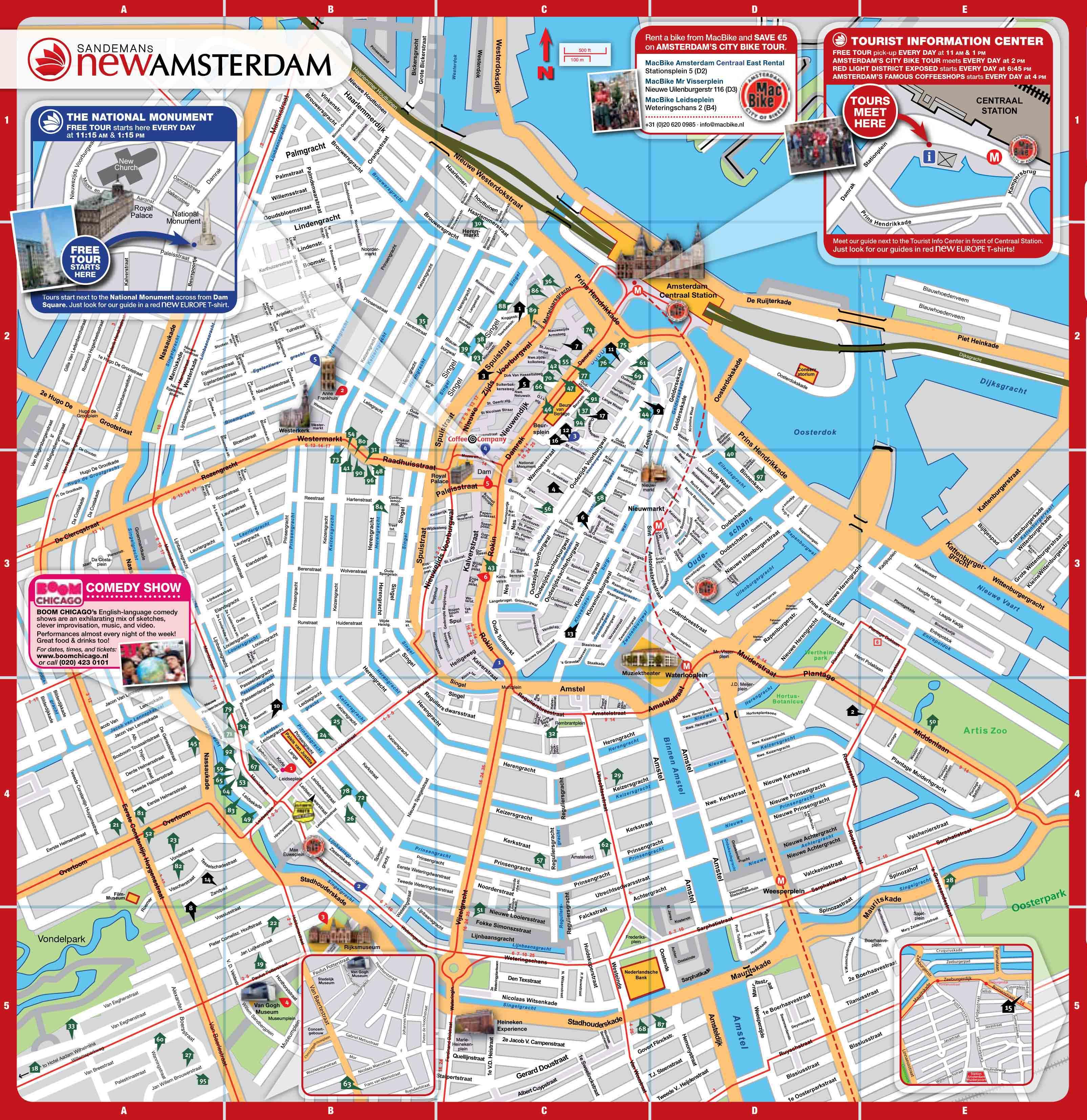 Mapa de Amsterdam!