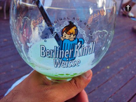 Cerveja frutificada, uma das muitas disponíveis na capital alemã. Thumb