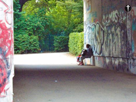Artista de rua no Tiergarten. Thumb