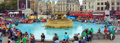 Trafalgar Square - Muito movimentado