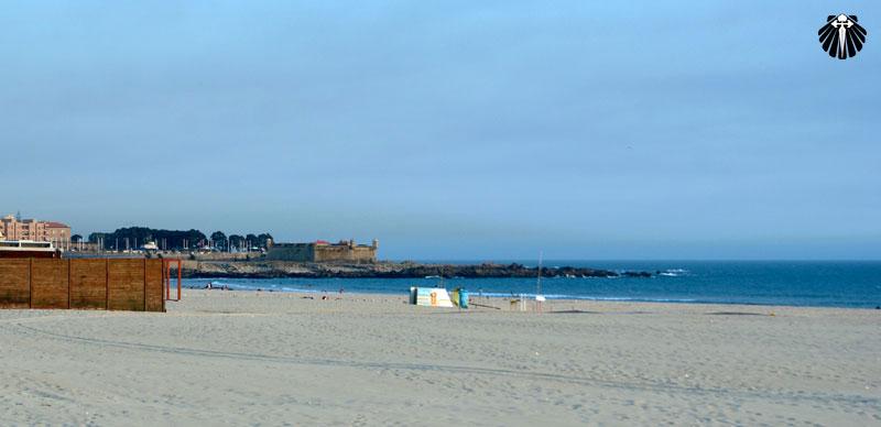 Praia da Foz na cidade do Porto.