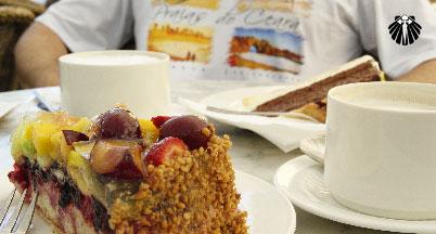 Torta e Capucchino, combinação perfeita!