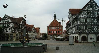 Praça do Mercado da cidade de Schorndorf