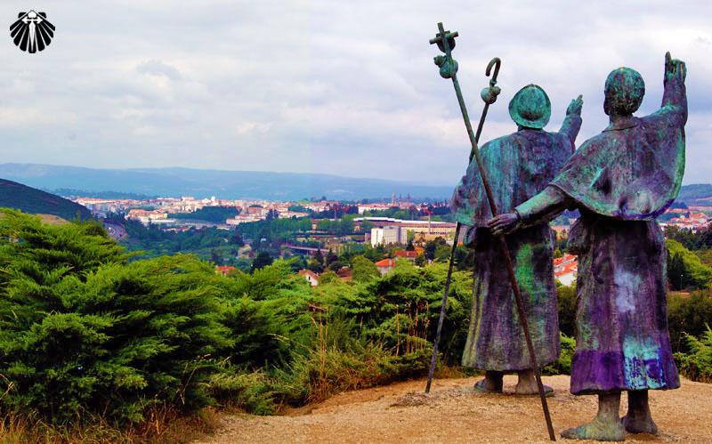 Miradouro do Monte do Gozo, as estátuas apontam em direção a Catedral de Santiago de Compostela.