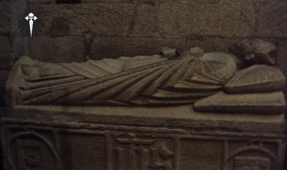 Tumba do Apostolo Santiago na Cripta da Catedral