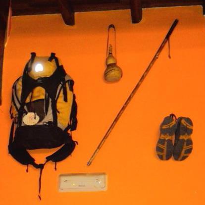 Mochila, cajado, equipamentos peregrinos!