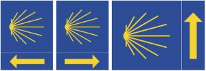 Modelos de sinalização encontrados no Caminho de Santiago de Compostela.