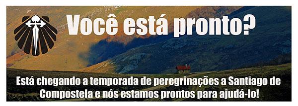Cartaz promocional do Caminho de Santiago de Compostela